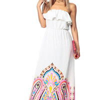 Fuchsia Wild Paisley Maxi Dress