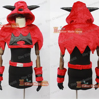 Pokemon Team Magma Gal Cosplay Costume dress Female