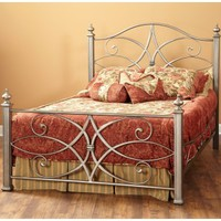 Katrina Iron Bed in German Silver by Largo Furniture | Humble Abode