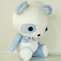 Cute Bellzi Stuffed Animal Blue w/ White Contrast Panda Plushie Doll - Pandi