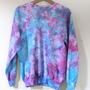 tie dye galaxy acid wash mermaid jumper sweatshirt top