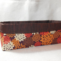 Autumn Color Long Fabric Basket