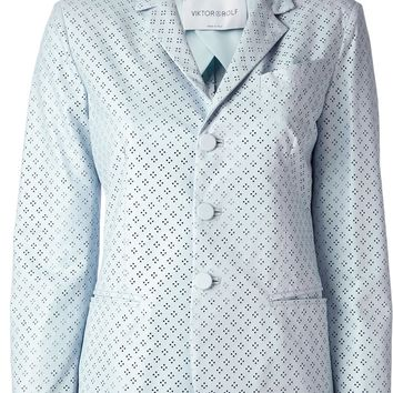 Viktor & Rolf Perforated Leather Jacket