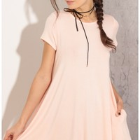Day dresses > Classic Day Dress In Pink
