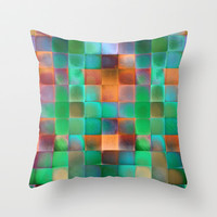 CHECKED DESIGN II Throw Pillow by Pia Schneider [atelier COLOUR-VISION]