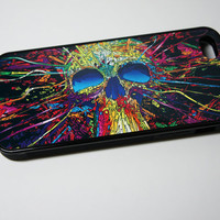 Trippy Skull Art iPhone Case - For Apple iPhone 4/4s, iPhone 5/5s, iPhone 5C - Cool Custom Cover - BUILD A CASE