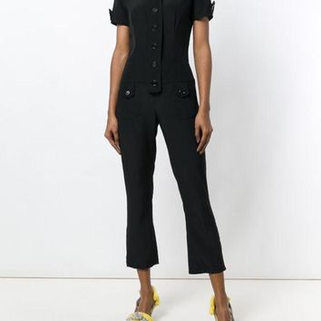 CREYONJF Moschino Vintage Cropped Shortsleeved Jumpsuit - Farfetch