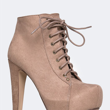 Scala Lace-Up Ankle Bootie