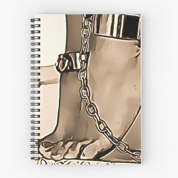 'BDSM love - feets and chains, sepia #2' Spiral Notebook by bdsmlove