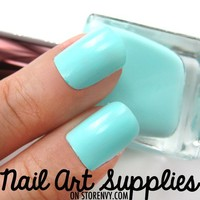 Tiffany Blue - Mint Blue Green Nail Polish Lacquer 16ml by nailartsupplies