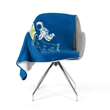 "Barmalisirtb ""You Need A Break"" Blue Moon Fleece Throw Blanket"