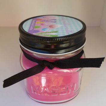 Pink Pear 8 oz Soy Blend Mason Jar Soy Blend Candle Highly Scented