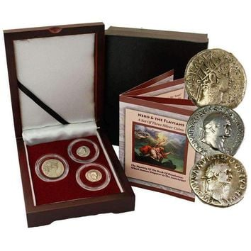 Mystery of the Book of Revelation Box, 3 Silver Roman Coins