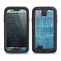The Sketched Blue Word Surface Samsung Galaxy S4 LifeProof Nuud Case Skin Set