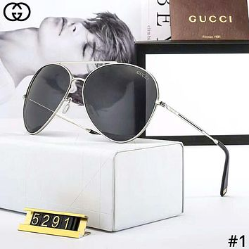 GUCCI tide brand neutral retro large frame polarized sunglasses #1