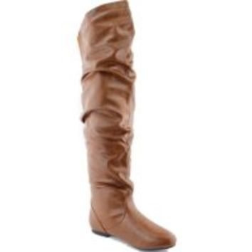 Nature Breeze Vickie Hi Knee high Boots,7 B(M) US,Tan Pu-21