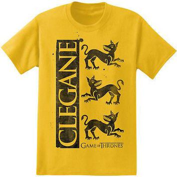 Game Of Thrones House Clegane Sigil Logo Licensed Adult Unisex T-Shirts - Yellow