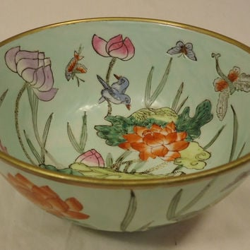 Designer Decorative Bowl 9in x 9in x 4in 64-58z Vintage Ceramic -- Used