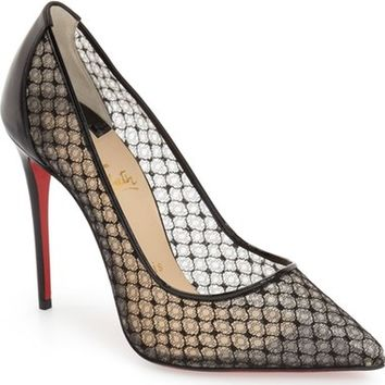 Christian Louboutin 'Follies' Lace Pointy Toe Pump | Nordstrom