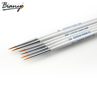 6Pcs/Set Fine Hand-painted Hook Line Pen Drawing Pen Art Pen #0 #00 #000 Paint Brush Art Supplies Student Stationery