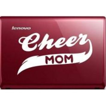 Cheer Mom Automobile Decal Car Window Decal Tablet PC Computer Automobile Window Wall Laptop Notebook Ipad cell phone