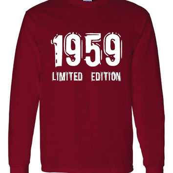 1959 Limited Edition Bday Long Sleeve Unisex T Shirt 54Th Bday Tee Great Birthday Gift Long Sleeve Happy 54th tee Shirt