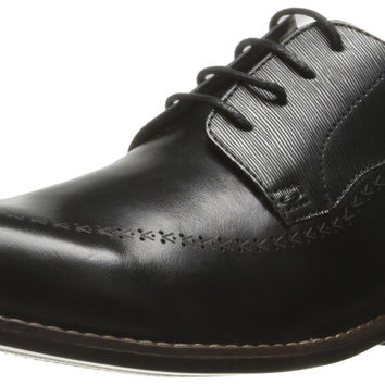 Steve Madden Men's Lassow Oxford Black Leather 13 D(M) US '