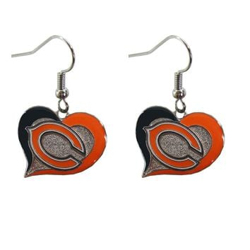 Licensed Official Brand New Licensed NFL All Teams Swirl Heart Earring Dangle Charm Pick Your Team