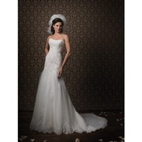 Fancy wedding dress--Aline
