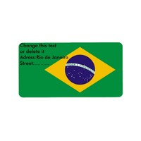 Custom Label with Flag of Brazil