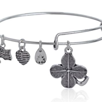Alex and Ani Luck leaf pendant charm bracelet,a perfect gift !