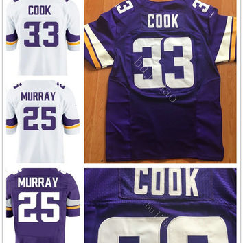 2017 New Draft Pick #33 Dalvin Cook Jersey Purple White Cheap Mens Stitched #25 Justin Murray Jerseys Sports Shirt Fast Shipping
