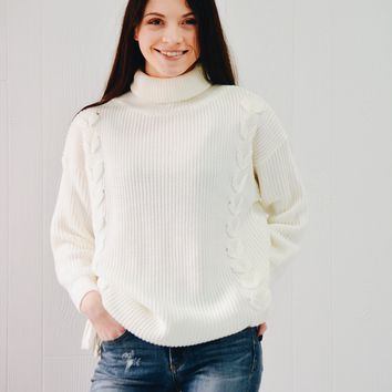 Barten Lace Up Sweater