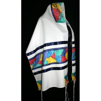 Multi Color Panel Tallit Set