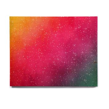 "Fotios Pavlopoulos ""Colorful Constellation"" Pink Glam Birchwood Wall Art"