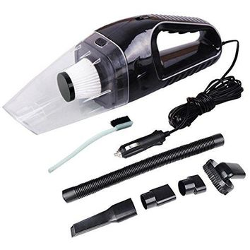 Car Vacuum Cleaner,12V 120W 4000PA Portable Handheld High Power Dry Wet for Car Home Office with 13.5 in Power Cord Black