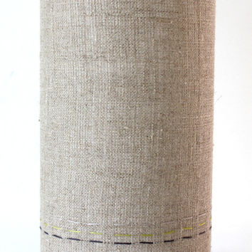 linen handstitched table lamp