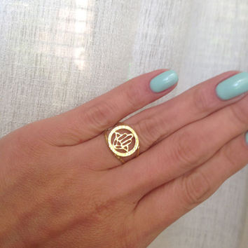 20% off-SALE!!! - Gold Hamsa Ring - Silver Hamsa Ring - Hand of Fatima Ring - Evil Eye Protection - Simple Ring - Everyday Ring - Good Luck