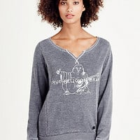 BUDDHA FLEECE WOMENS PULLOVER