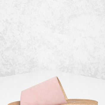 Faux Suede Slides