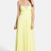 As U Wish Embellished Strapless Gown (Juniors)