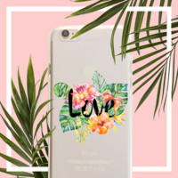 Tropical Love Clear TPU Case Cover