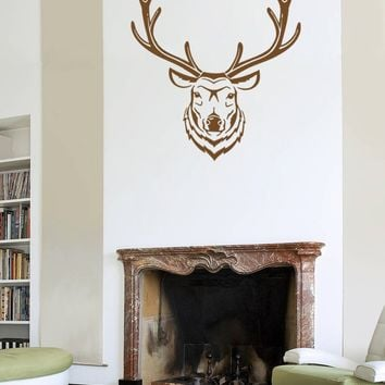 ik757 Wall Decal Sticker deer elk buck head forest animal hunting