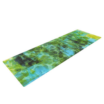 "Ebi Emporium ""Pastel Jungle II"" Green Blue Yoga Mat"
