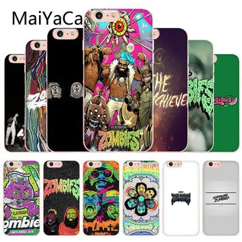 MaiYaCa Flatbush Zombies Design Novelty Fundas Phone Case Cover For iphone X 8 8plus Transparent Case cover And 7 7plus 6 6s