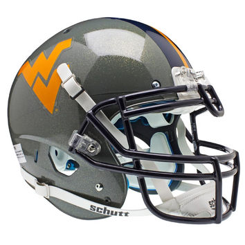 West Virginia Mountaineers NCAA Authentic Air XP Full Size Helmet (Alternate Gray 1)