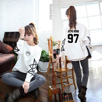 KPOP BTS Bangtan Boys Army Sweatshirt Tracksuits Sailor Moon K-pop  Boys   Suga Hoodie Jacket Jungkook Seventeen Baseball Women Sweatershirt AT_89_10