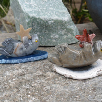 Sea Otter Soapstone Jasper Carving