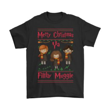 ESB8HB Merry Christmas Ya Filthy Muggle Harry Potter Shirts