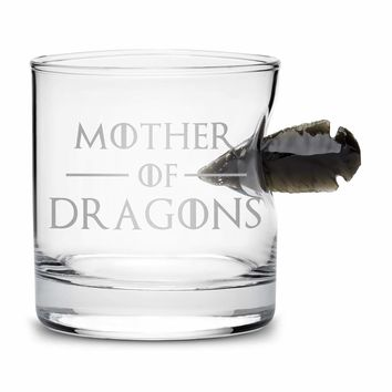 Limited Edition Game of Thrones Whiskey Dragon Glass Obsidian Arrowhead, Mother of Dragons